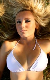 jessica nigri white bikini top