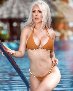 kristen hughey orange bikini 3