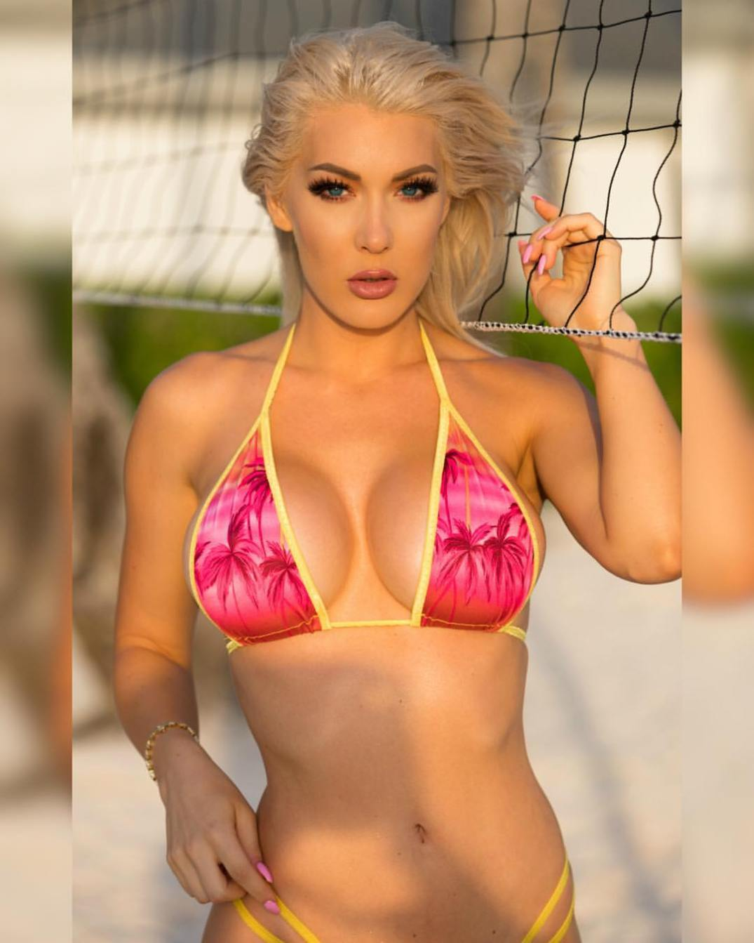kristen hughey volley ball net