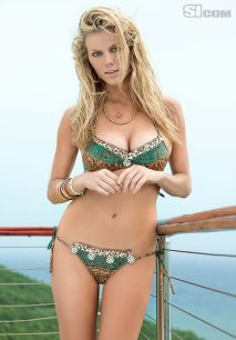 brooklyn decker beady green bikini
