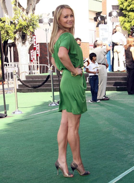 christine taylor green dress