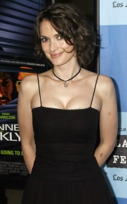 winona ryder black dress