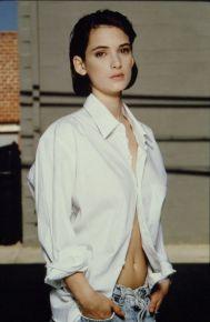 winona ryder white shirt
