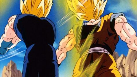 majin vegeta knocks out goku