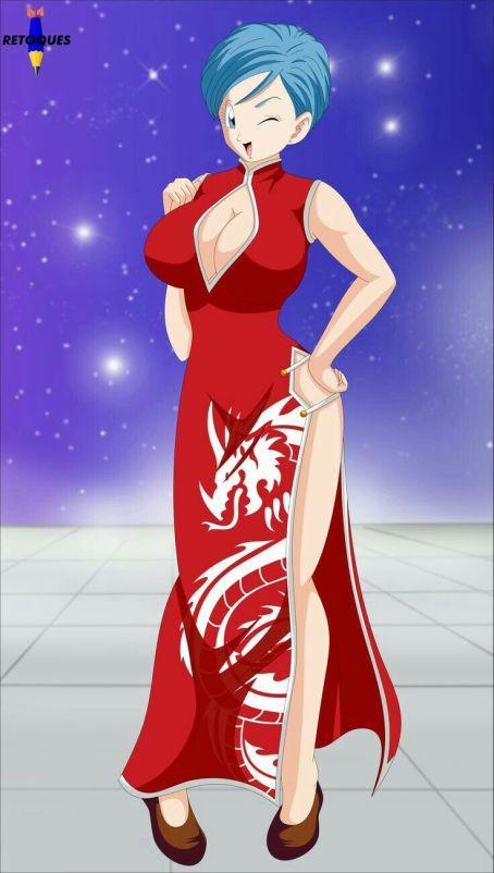 dragon ball bulma kimono dress