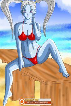 dragon ball marcarita red bikini