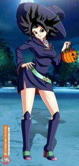 dragon ball caulifla_in_halloween_costume_by_foxybulma_dcrdvgd-fullview