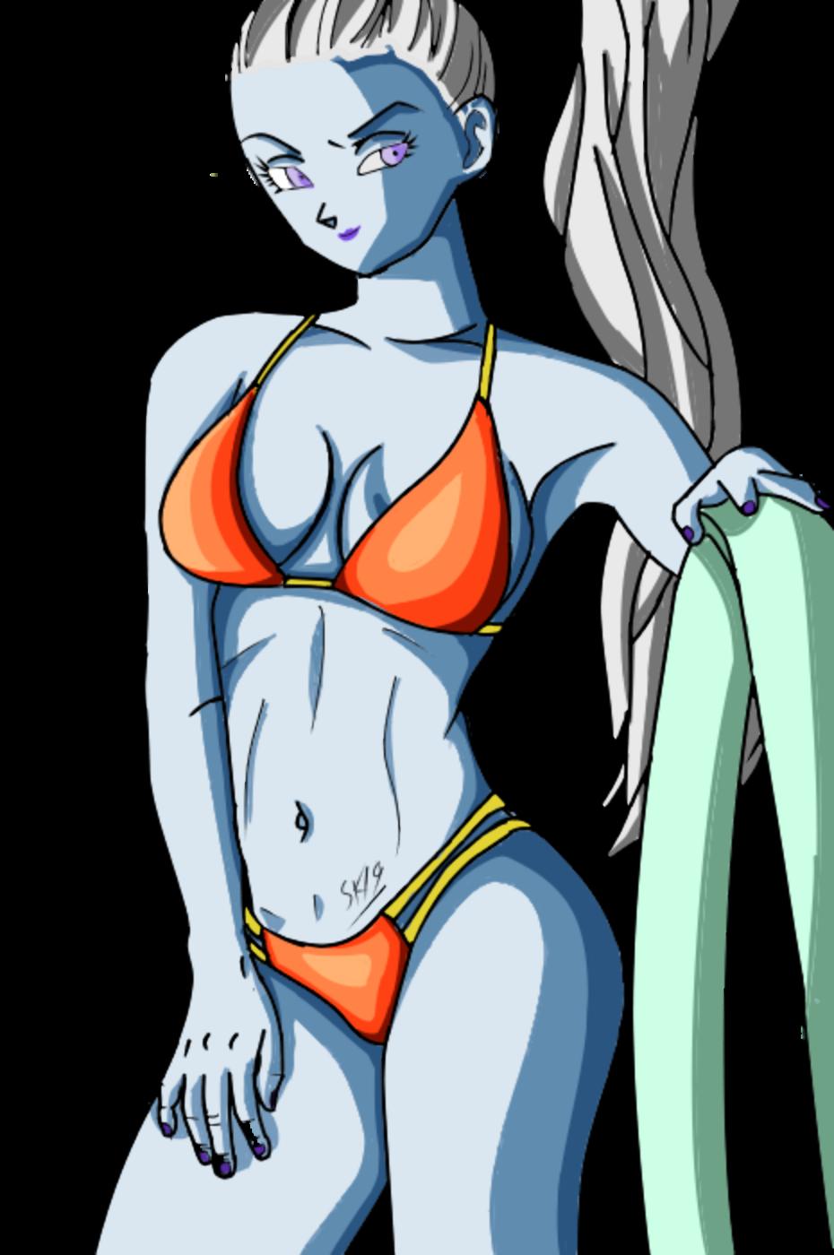 dragon ball vados orange bikini